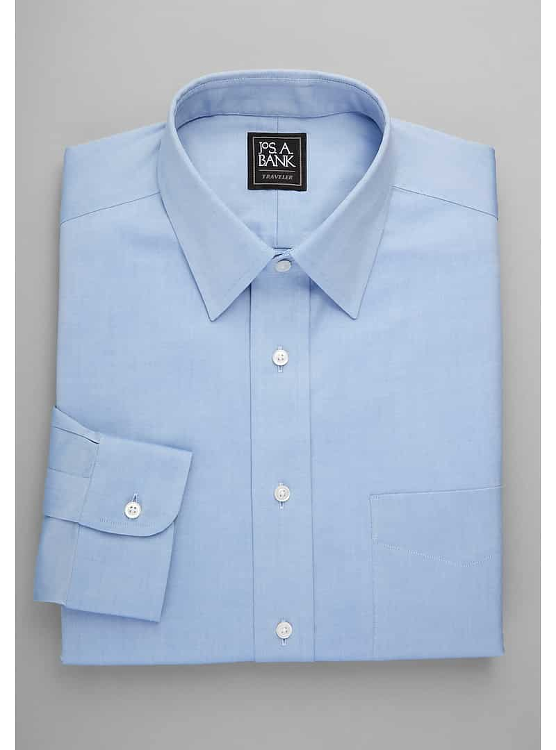 Traveler Collection Tailored Fit Point Collar Dress Shirt