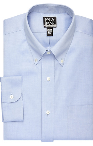 Traveler Collection Traditional Fit Button-Down Collar Dress Shirt - Big & Tall