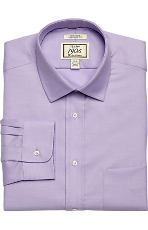 Men's FLYOUT_COLLECTION, 1905 Collection Tailored Fit Spread Collar Twill Dress Shirt - Big & Tall - Jos A Bank