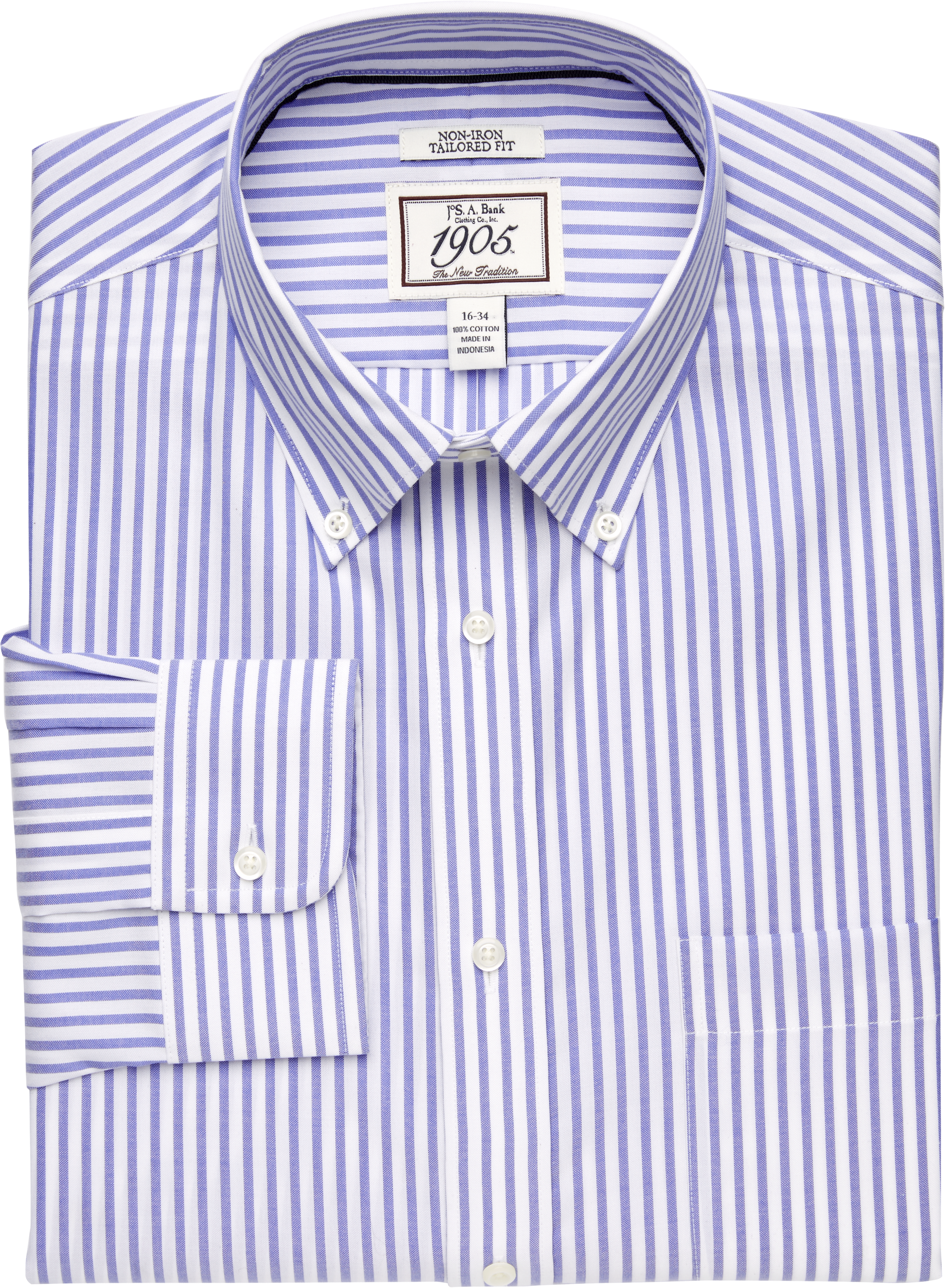 4cdffa10a11776 1905 Collection Tailored Fit Button-Down Collar Bengal Stripe Dress Shirt -  1905 Dress Shirts | Jos A Bank