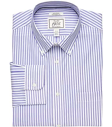 e9265dfbd9 1905 Collection Tailored Fit Button-Down Collar Bengal Stripe Dress Shirt  #5DWY
