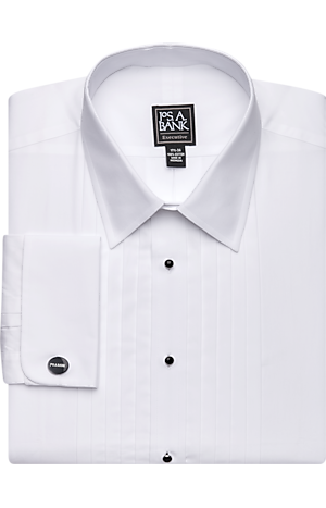 Executive Collection Traditional Fit Point Collar French Cuff Formal Dress Shirt