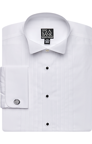 Men's Shirts, Executive Collection Traditional Fit Wing Collar French Cuff Formal Dress Shirt - Jos A Bank