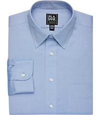 Traveler Collection Traditional Fit Point Collar Solid Pinpoint Dress Shirt - Big & Tall