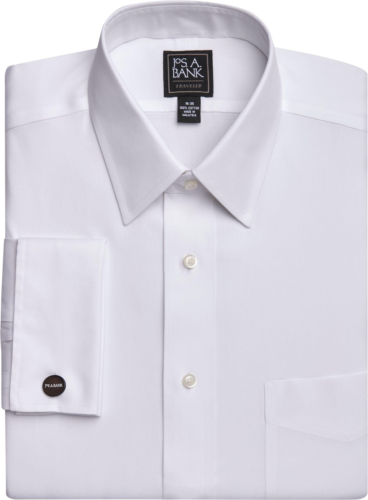 5de5e68895ed Traveler Collection Traditional Fit Point Collar French Cuff Dress Shirt -  Big & Tall #5DE0