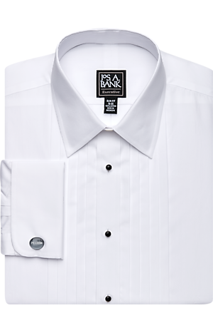 Men's Shirts, Executive Collection Slim Fit Point Collar French Cuff Formal Dress Shirt - Jos A Bank