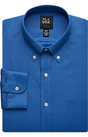 Men's Special Categories, Traveler Collection Slim Fit Button-Down Collar Dress Shirt - Jos A Bank