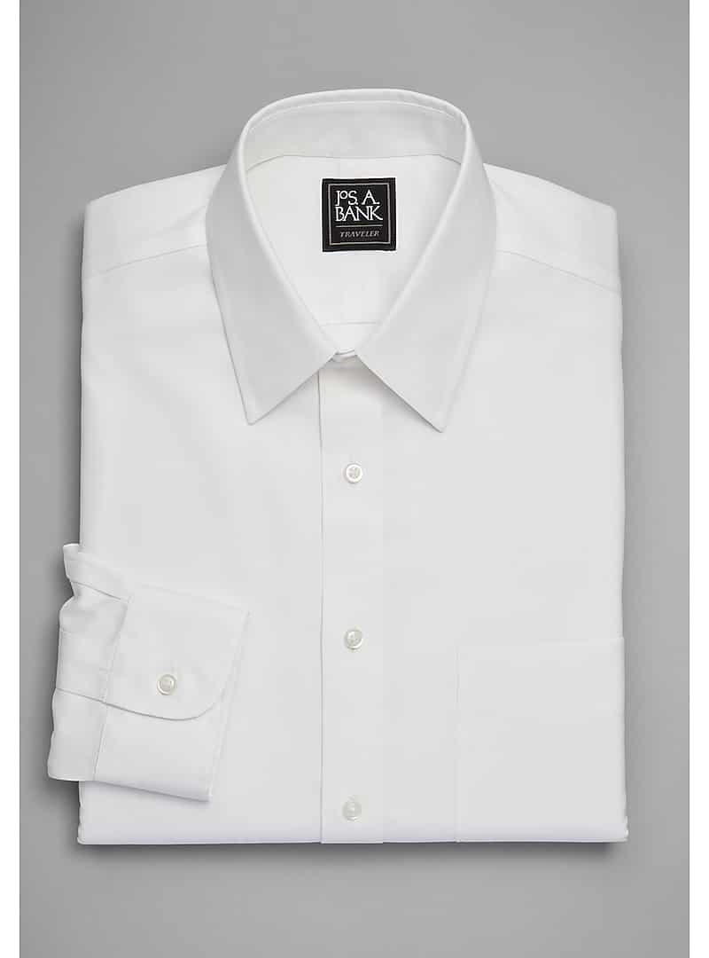 Traveler Collection Slim Fit Point Collar Dress Shirt