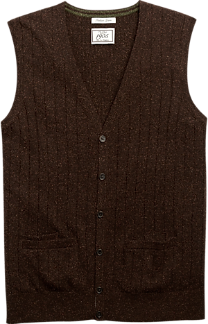 Men's Clearance, 1905 Ribbed Knit Tailored Fit Sweater Vest CLEARANCE - Jos A Bank