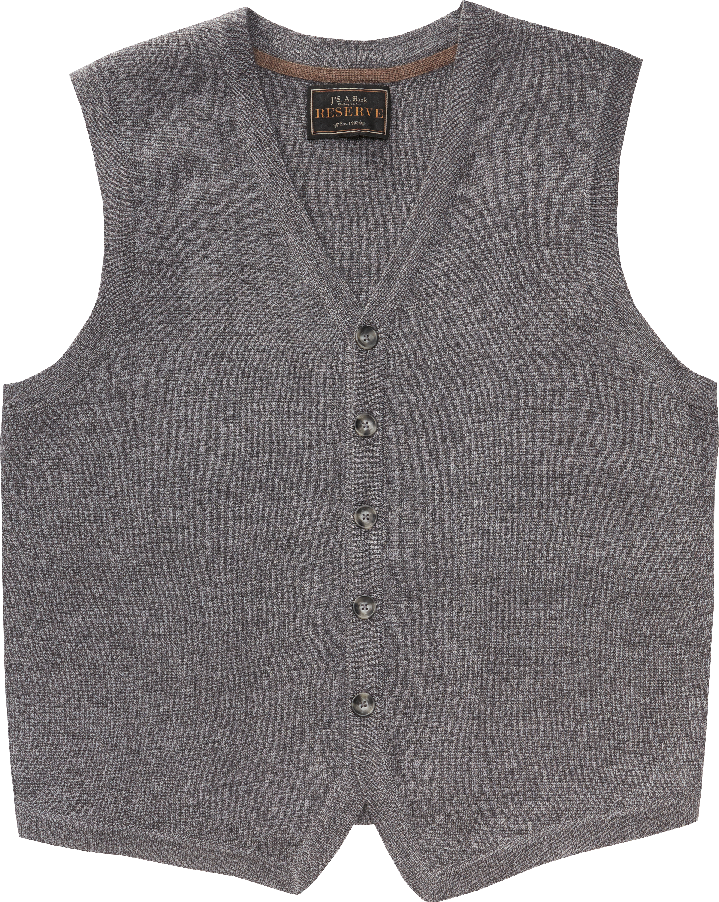 56aeb3250 Reserve Collection Merino Wool Blend Button Front Sweater Vest CLEARANCE