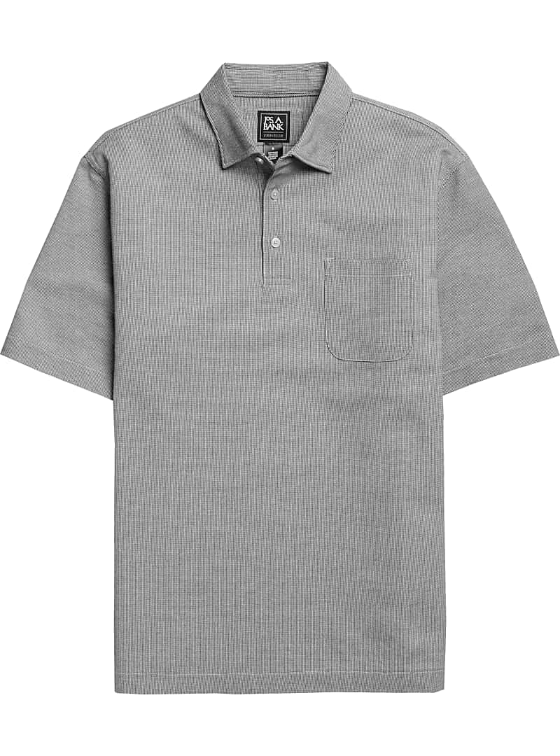Traveler Collection Traditional Fit Cotton Oxford Short-Sleeve Polo Shirt
