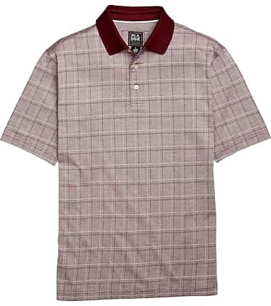7cc9fbb97 Traveler Collection Traditional Fit Plaid Short-Sleeve Interlock Polo Shirt  CLEARANCE  62JV