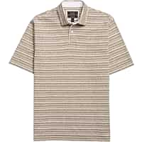 Deals on Reserve Collection Multistripe Traditional Fit Polo Shirt