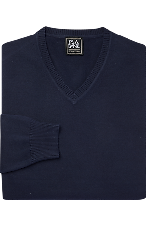 Men's Sale, Traveler Collection Pima Cotton V-Neck Sweater - Big & Tall - Jos A Bank