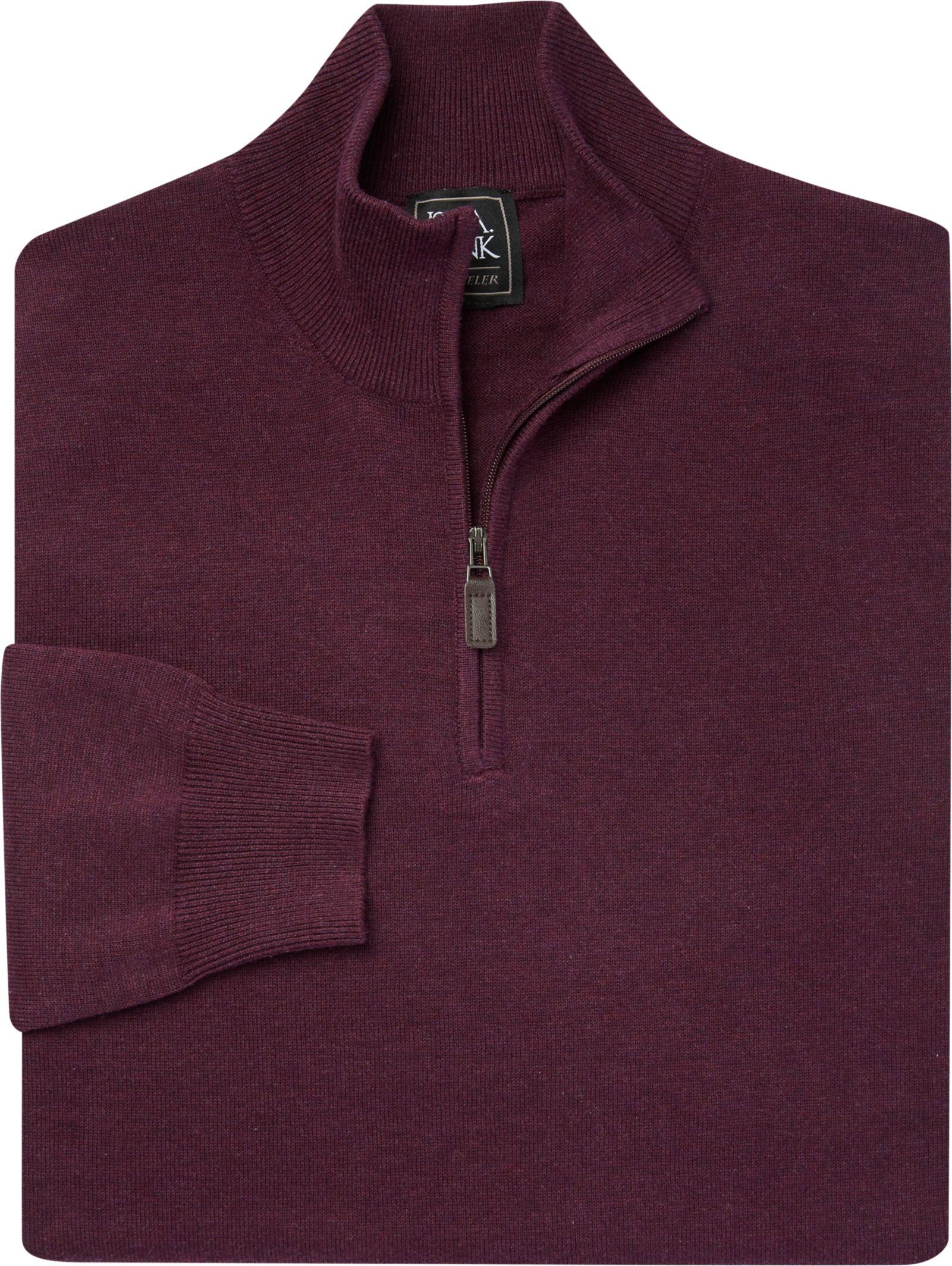 Traveler Collection Mock Neck Cotton Quarter-Zip Sweater (various colors)