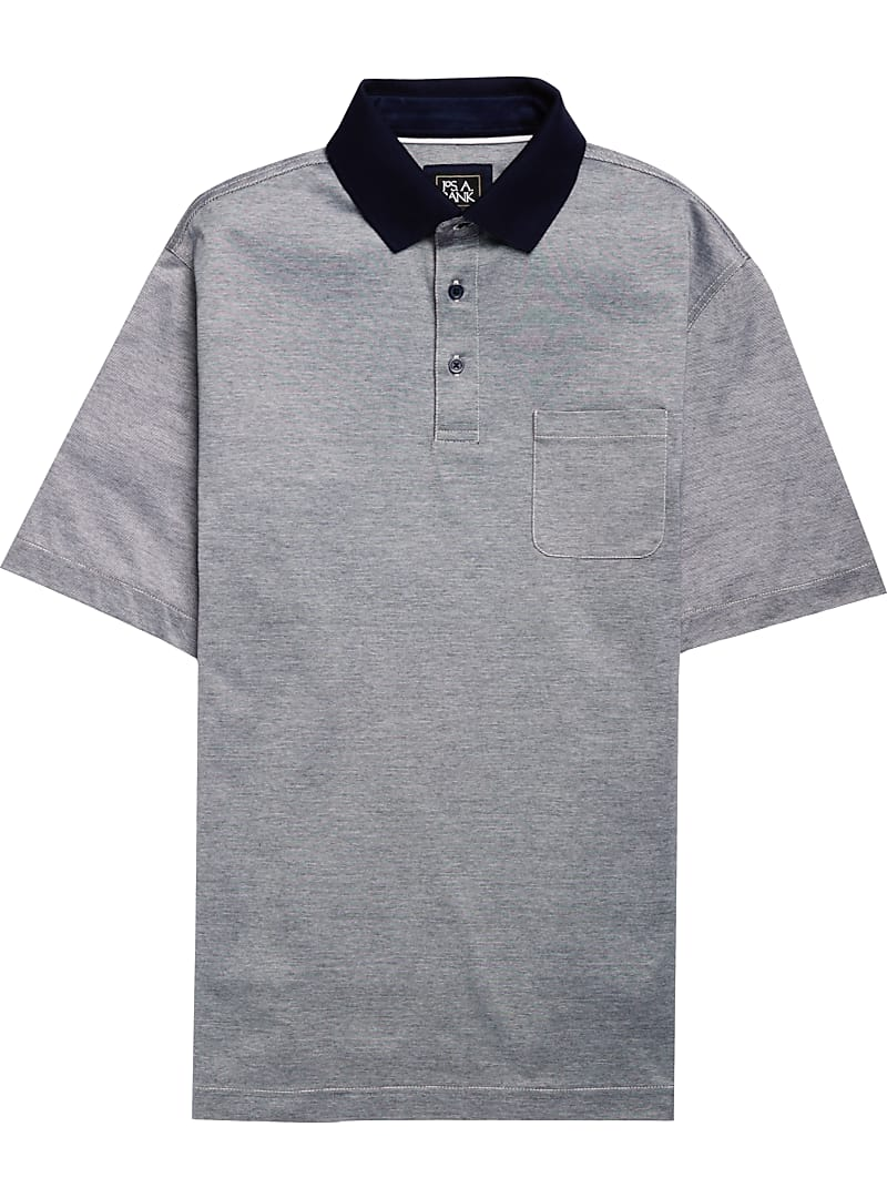 Traveler Collection Traditional Fit Stripe Short-Sleeve Polo Shirt