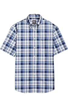 Traveler Collection Traditional Fit Button-Down Short-Sleeve Sportshirt