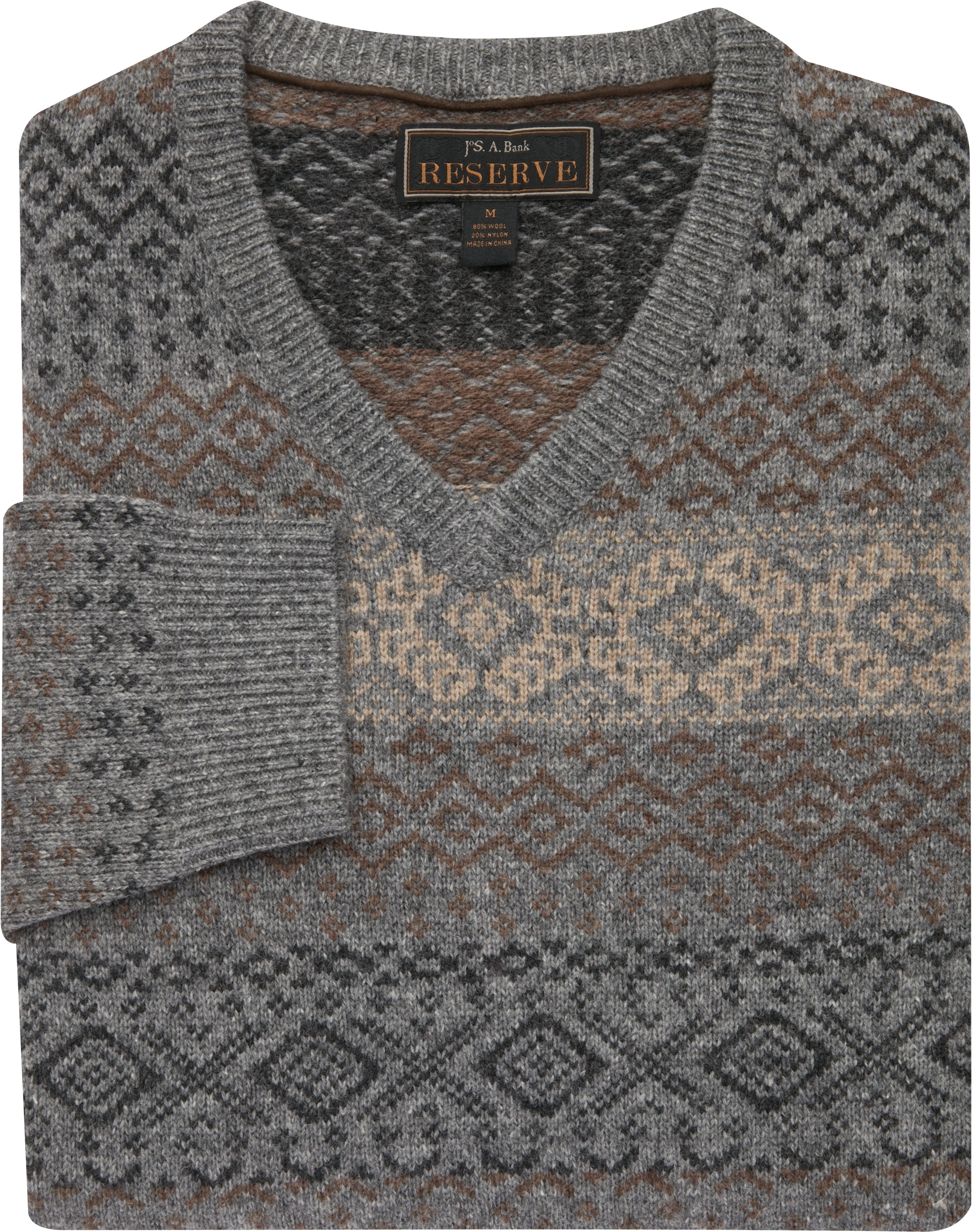 Reserve Collection Wool Blend Fair Isle Sweater CLEARANCE