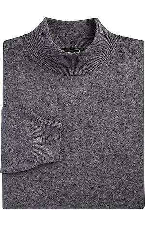 Men's Sale, Traveler Collection Pima Cotton Mock Neck Sweater - Big & Tall - Jos A Bank