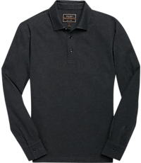 Reserve Collection Herringbone Long Sleeve Big & Tall Polo