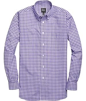 Traveler Collection Traditional Fit Button-Down Collar Check Sportshirt