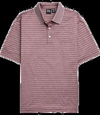 d69b908b Traveler Performance Traditional Fit Short Sleeve Stripe Polo