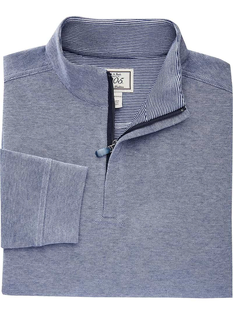 Jos. A. Bank 1905 Collection Tailored Fit Long Sleeve Quarter Zip Knit