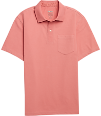 Men's Clearance, 1905 Collection Tailored Fit Cotton Jersey Short Sleeve Polo CLEARANCE - Jos A Bank