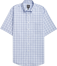 Traveler Collection Traditional Fit Button-Down Collar Check Short-Sleeve  Sportshirt