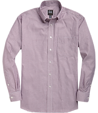 Men's FLYOUT_CATEGORY, Traveler Collection Traditional Fit Button Down Collar Plaid Sportshirt - Big & Tall - Jos A Bank