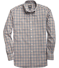 Men's FLYOUT_CATEGORY, Traveler Collection Traditional Fit Button-Down Small Grid Sportshirt - Big & Tall - Jos A Bank