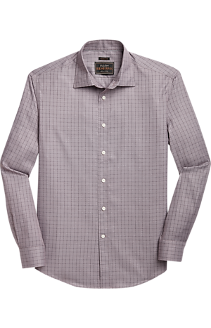 Men's Clearance, Reserve Collection Traditional Fit Spread Collar Windowpane Plaid Sportshirt - Big & Tall CLEARANCE - Jos A Bank