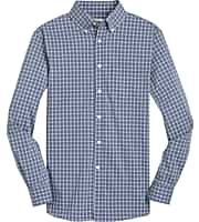 1905 Collection Tailored Fit Button-Down Collar Check Sportshirt