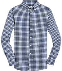 Men's Shirts, 1905 Collection Tailored Fit Button-Down Collar Check Sportshirt with brrr° comfort - Jos A Bank