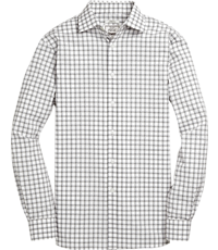 Men's Shirts, 1905 Collection Tailored Fit Spread Collar Check Sportshirt with brrr° comfort - Jos A Bank