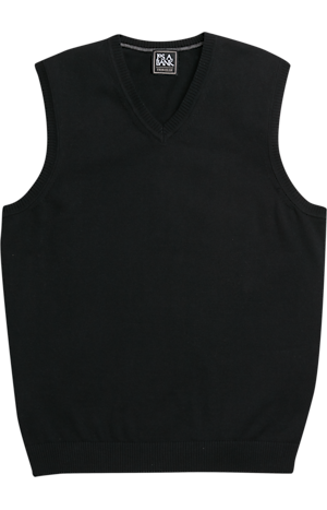 Men's Sweaters, Traveler Collection Pima Cotton V-Neck Sweater Vest - Jos A Bank