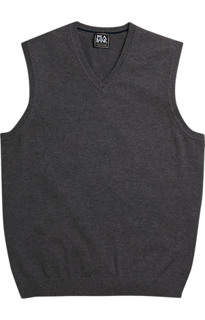 Men's Special Categories, Traveler Collection Pima Cotton V-Neck Sweater Vest - Jos A Bank