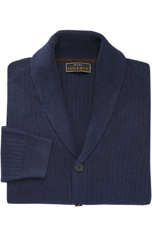 Men's Sweaters, Reserve Collection Cotton & Wool Shawl Collar Cardigan Sweater - Jos A Bank