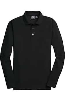 Traveler Collection Traditional Fit Long Sleeve Pique Polo Shirt
