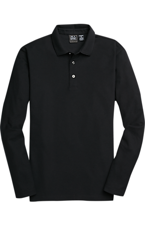 Men's Clearance, Traveler Collection Traditional Fit Long Sleeve Pique Polo Shirt CLEARANCE - Jos A Bank