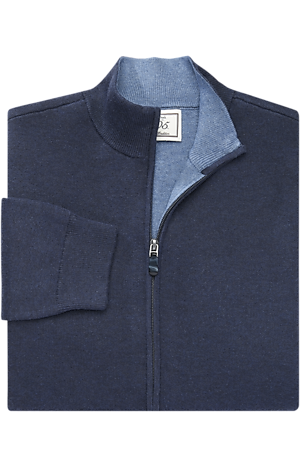 Men's Sweaters, 1905 Collection Cotton & Cashmere Blend Full-Zip Sweater - Jos A Bank