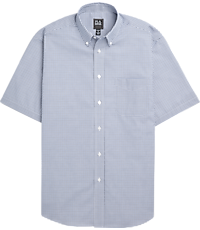Traveler Collection Traditional Fit Button-Down Collar Short-Sleeve  Sportshirt