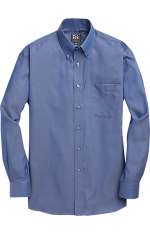 Men's FLYOUT_COLLECTION, Traveler Collection Traditional Fit Button-Down Collar Sportshirt - Big & Tall - Jos A Bank