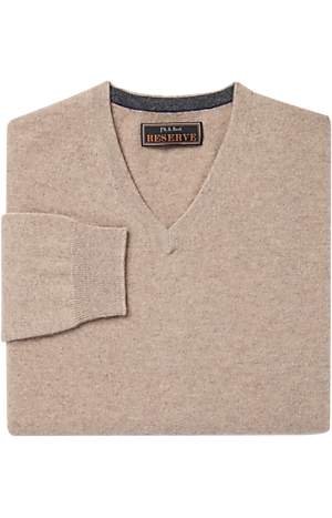 Jos. A. Bank Reserve Collection Cashmere V-Neck Sweater - Big & Tall