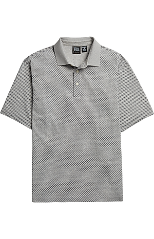 Men's Shirts, Traveler Collection Traditional Fit Short-Sleeve Dot Polo - Jos A Bank