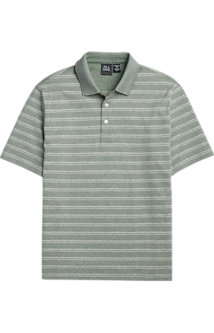 Men's Shirts, Traveler Collection Traditional Fit Short-Sleeve Stripe Polo - Jos A Bank