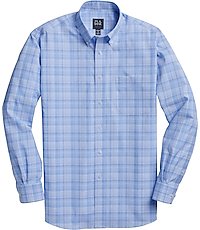 Men's Special Categories, Traveler Collection Traditional Fit Button-Down Collar Plaid Sportshirt - Jos A Bank
