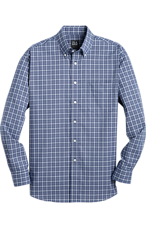 Men's Shirts, Traveler Collection Traditional Fit Button-Down Check Sportshirt - Jos A Bank
