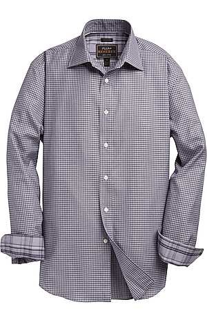 Men's FLYOUT_COLLECTION, Reserve Collection Traditional Fit Spread Collar Gridded Sportshirt - Big & Tall - Jos A Bank