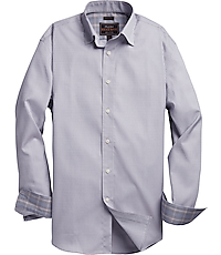 Men's Shirts, Reserved Collection Tailored Fit Button-Down Collar Gridded Sportshirt - Jos A Bank